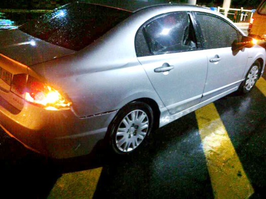 A picture of Sechaba's car after the incident. Photo: Provided