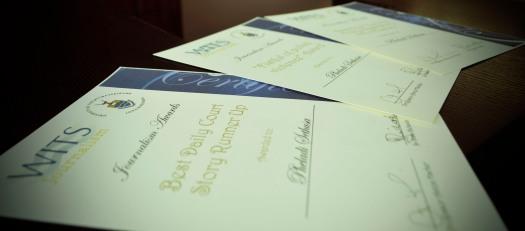 AND THE WINNER IS: Scored my self three awards :D Photo: Pheladi Sethusa