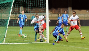 Keegan Boulle, Tuks reserve, scores the fourth goal in their game against UCT on Monday. Photo: Provided