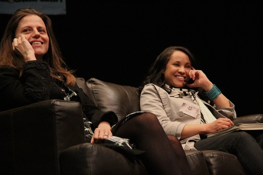 Writers Dominique  Botha and Carol-Ann Davids were two of the 'new' authors on the panel. Photo: Pheladi Sethusa