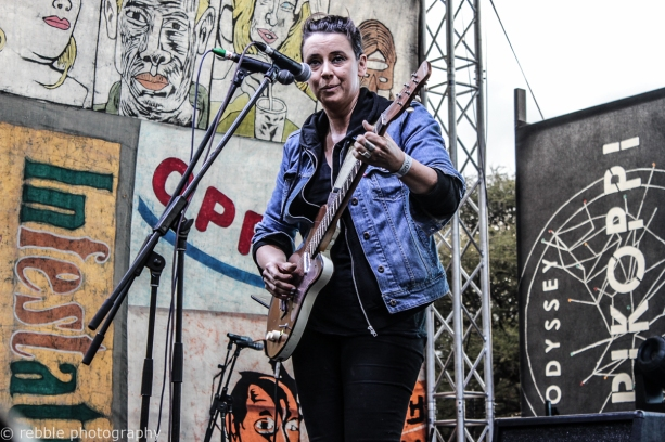 Cat Power (Chan Marshall) on the Bruilof stage at Oppikoppi Odyssey on 09/08/2014